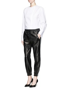 ALEXANDER MCQUEENTuxedo stripe leather track pants