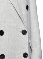 Double breasted wool-cashmere coat