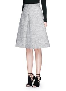ALEXANDER MCQUEENInverted box pleat tweed flare skirt