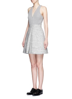 ALEXANDER MCQUEENTweed skirt racerback pouf dress