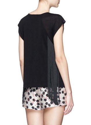 Back View - Click To Enlarge - Giamba - Fringed jersey knit top