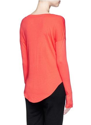 Back View - Click To Enlarge - Nike - 'AS Nike Signal' metallic logo print T-shirt
