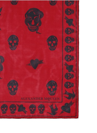 Detail View - Click To Enlarge - Alexander McQueen - Tattoo multiskull silk chiffon scarf