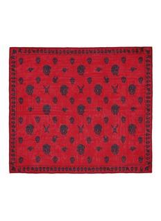 ALEXANDER MCQUEENTattoo multiskull silk chiffon scarf