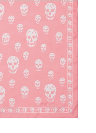 Detail View - Click To Enlarge - Alexander McQueen - Classic skull silk chiffon scarf