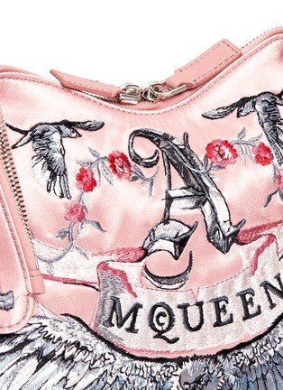 Detail View - Click To Enlarge - Alexander McQueen - 'De Manta' tattoo embroidery satin clutch
