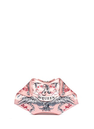 Main View - Click To Enlarge - Alexander McQueen - 'De Manta' tattoo embroidery satin clutch