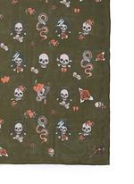 Skull tattoo silk chiffon scarf
