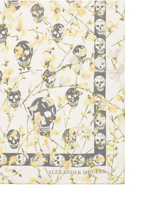 Detail View - Click To Enlarge - Alexander McQueen - Ramage skull silk chiffon scarf