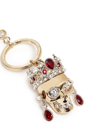 Detail View - Click To Enlarge - Alexander McQueen - Royal skull keyring
