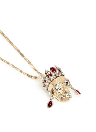 Detail View - Click To Enlarge - Alexander McQueen - Royal skull pendant necklace