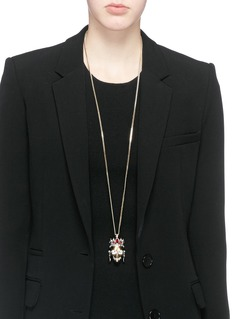 ALEXANDER MCQUEEN Royal skull pendant necklace