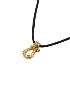 Fred 'Force 10' diamond 18k yellow gold small pendant necklace