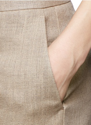 Detail View - Click To Enlarge - Theory - 'Grinetta' linen burlap pants