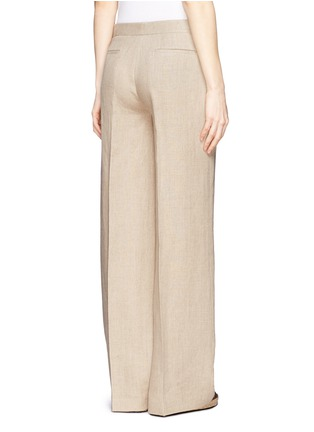 Back View - Click To Enlarge - Theory - 'Grinetta' linen burlap pants