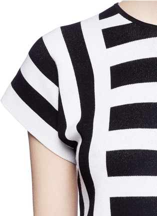Detail View - Click To Enlarge - Theory - 'Seblyn' contrast stripe cropped knit T-shirt