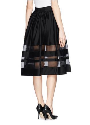 Back View - Click To Enlarge - alice + olivia - 'Misty' organza stripe pouf midi skirt