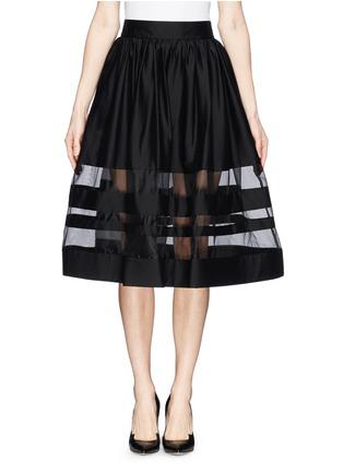 Main View - Click To Enlarge - alice + olivia - 'Misty' organza stripe pouf midi skirt