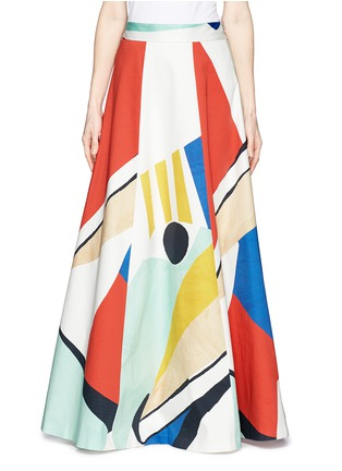 Main View - Click To Enlarge - alice + olivia - 'Bryn' graphic colourblock maxi skirt