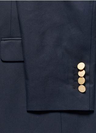 Detail View - Click To Enlarge - Valentino - Cotton twill blazer