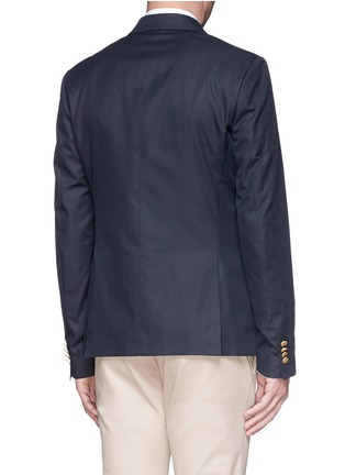 Back View - Click To Enlarge - Valentino - Cotton twill blazer
