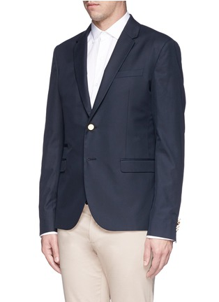 Front View - Click To Enlarge - Valentino - Cotton twill blazer