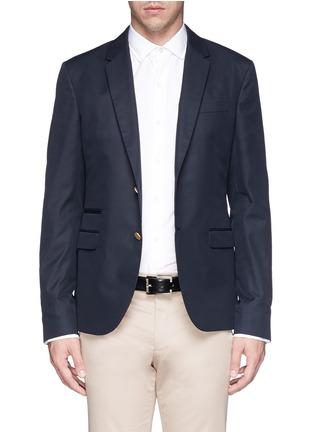 Valentino-Cotton twill blazer