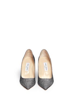 模特儿示范图 - 点击放大 - JIMMY CHOO - AGNES闪亮鞋面尖头高跟鞋