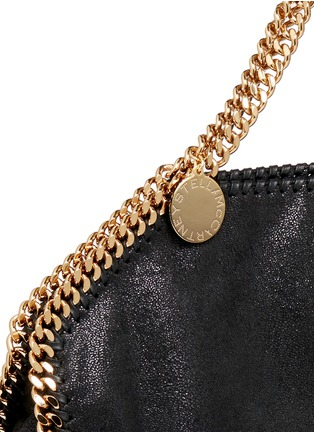 Detail View - Click To Enlarge - Stella McCartney - 'Falabella' small shaggy deer foldover chain tote