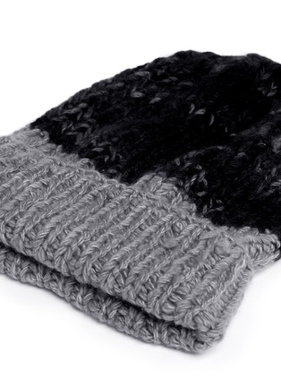 Detail View - Click To Enlarge - THE ELDER STATESMAN - 'Half Straight Ski' chunky knit cashmere beanie