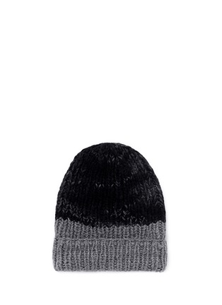 Main View - Click To Enlarge - THE ELDER STATESMAN - 'Half Straight Ski' chunky knit cashmere beanie