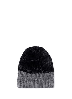 THE ELDER STATESMAN'Half Straight Ski' chunky knit cashmere beanie