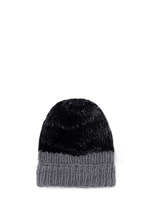 Figure View - Click To Enlarge - THE ELDER STATESMAN - 'Half Straight Ski' chunky knit cashmere beanie