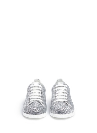 Front View - Click To Enlarge - Alexander McQueen - Coarse glitter sneakers