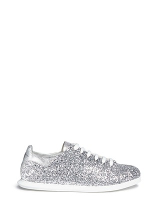 Main View - Click To Enlarge - Alexander McQueen - Coarse glitter sneakers