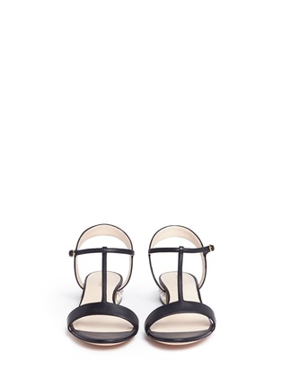 Front View - Click To Enlarge - Nicholas Kirkwood - 'Casati Pearl' leather T-strap sandals