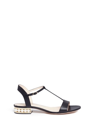 Main View - Click To Enlarge - Nicholas Kirkwood - 'Casati Pearl' leather T-strap sandals