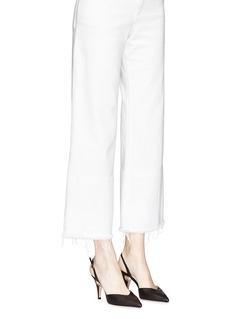 Nicholas Kirkwood 'Penelope' faux pearl heel slingback leather pumps