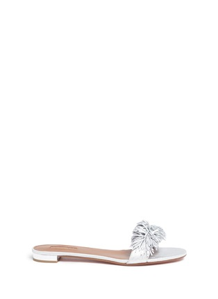 Main View - Click To Enlarge - Aquazzura - 'Wild Thing' fringe suede slide sandals
