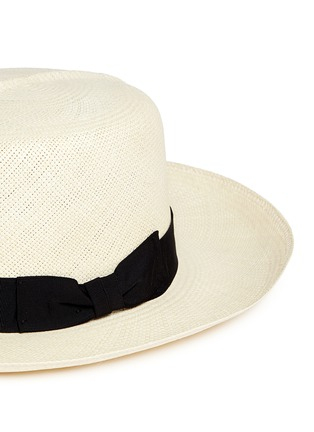 Detail View - Click To Enlarge - Lock & Co - Rollable Panama straw hat