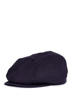 Lock & Co'Muirfield' linen messenger boy cap