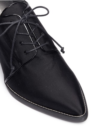 Detail View - Click To Enlarge - Stuart Weitzman - 'Menswear' grosgrain Oxfords