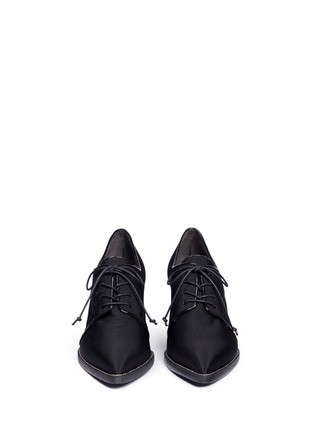 Front View - Click To Enlarge - Stuart Weitzman - 'Menswear' grosgrain Oxfords