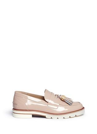 Stuart Weitzman Manila Tassel Leather Penny Loafers