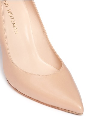 Detail View - Click To Enlarge - Stuart Weitzman - 'Peekabow' leather pumps