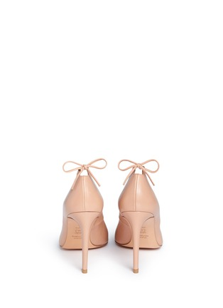 Back View - Click To Enlarge - Stuart Weitzman - 'Peekabow' leather pumps