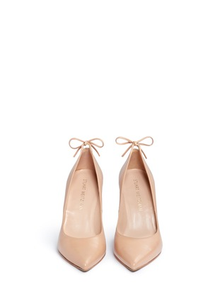 Front View - Click To Enlarge - Stuart Weitzman - 'Peekabow' leather pumps