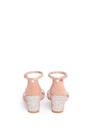Back View - Click To Enlarge - Stuart Weitzman - 'Simple' glitter heel suede sandals