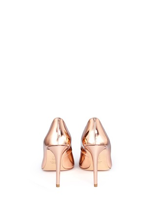 Back View - Click To Enlarge - Stuart Weitzman - 'Legend' metallic mirror leather pumps