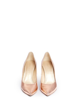 Front View - Click To Enlarge - Stuart Weitzman - 'Legend' metallic mirror leather pumps